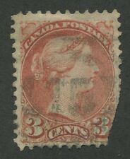 "CANADA #37 USED SMALL QUEEN 2-RING NUMERAL CANCEL ""15"""