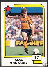 PANINI CALCIO CARD - 1988 SUPERSTARS CALCIO-N. 17-MAL Donaghy-LUTON TOWN