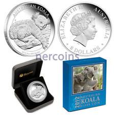 Australia 2012 Koala 5 Oz Pure Silver Proof Coin $8 Perth Mint Perfect