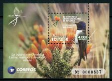 Ecuador 2018 MNH Botanical Congress Hummingbirds 1v M/S Flowers Birds Stamps