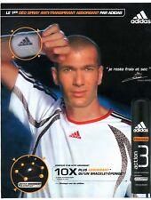 Publicité de 2006 pour le déodorant Adidas avec le sportif Zinedine Zidane