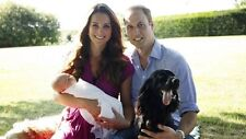 """WILLIAM AND KATE BABY PRINCE GEORGE FAMILY PIC FRIDGE MAGNET 5"""" X 3.5"""""""