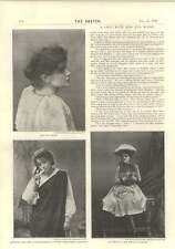1894 Chat With Eva Moore Kitty Pepita Broken Sixpence