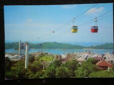 POSTCARD OCEANIA AUSTRALASIA CABLE CARS FROM MT FABER TO SENTOSA - SINGAPORE
