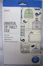 """Tablet Case Bird Cage Double Magnetic Clasp Built in Stand 7/8"""" Universal"""