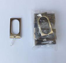 10 rechteckige Gardinenringe messing antik für Vorhangstangen 16 - 20 mm B-Ware