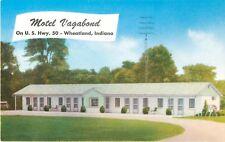 c1950s Motel Vagabond, Wheatland, Indiana Postcard