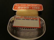 Vintage Hood Tire Advertising Card with Super Strength Tire Cord