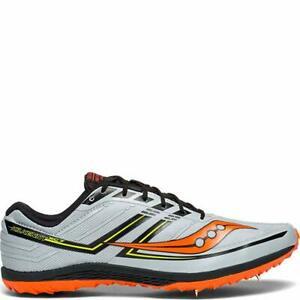 Saucony Men's Kilkenny XC7 Track Shoe, Grey/Black/Orange, 13 D(M) US