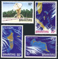 Bahamas 486-489, MNH. Space themes, Satellite views, 1981