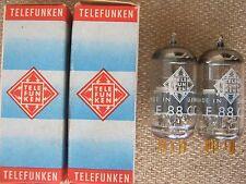 2x E88CC / 6922  TELEFUNKEN  <>   audio tubes  -  NOS  -  6922 / E 88 CC