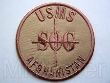 US Marshals Service Special Operations Group (SOG) Afghanistan Patch (Desert)