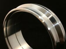 """4""""  V-band flanges Stainless steel , Billet flange pair with locating spigots"""