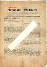 crv 75 - 1895 circa - ROMA - POLITEAMA ROMANO - Programma e sunto del Ballo