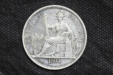 French Indo-china 1894A Piastre Silver Coin ( Weight : 27.10 g ) C129