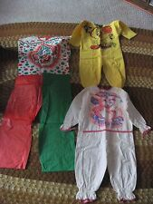3 Collectible  Children's Costumes..No Mask..Clown,Tweety Bird,Peter Rabbit..