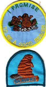 Boy Scout Badges BEAVERS + I PROMISE TO BE A GOOD BEAVER