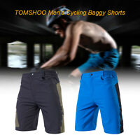 TOMSHOO Men's Baggy Cycling Shorts Breathable Loose-Fit Outdoor Sports MTB USA