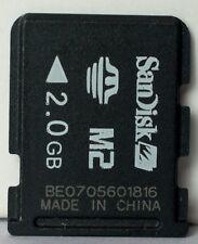 Sandisk 2GB M2 memory card.