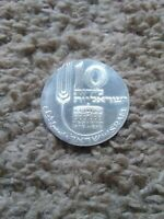 SILVER ISRAEL COIN 1970 10 LIROT - 22nd Anniversary Independence PROOF coin