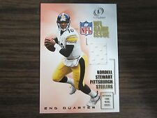 2001 Fleer Legacy 2nd Quarter Kordell Stewart Jersey Card B8 Steelers #79 / #100