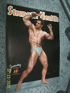 January, 1945 Vintage Strength & Health. muscle builder John Grimek