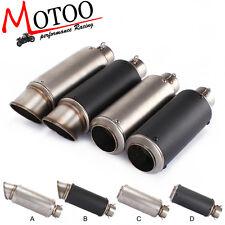 51mm Universal Motorcycle Exhaust Muffler Modified Exhaust Carbon Fiber