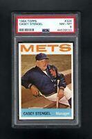 1964 TOPPS #324 CASEY STENGAL MGR NEW YORK METS PSA 8 NM/MT++SHARP CARD!