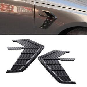Carbon Fiber Look Car Side Wing Air Flow Sticker 3D Trim Exterior Decorations 2x