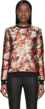 GIVENCHY ORANGE FLORAL BUTTERFLY BROCADE PULLOVER