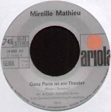 """MIREILLE MATHIEU ~ GANZ PARIS IST EIN THEATER ~ 1970 GERMAN 7"""" SINGLE"""