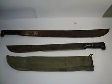 US WWII ARMY JUNGLE MACHETE MARTIN 1945 SCABBARD & 1 OTHER