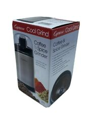 Capresso 505.05 Cool Grind Coffee and Spice Grinder, Stainless Finish