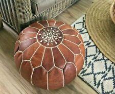 Moroccan leather Pouf ottoman handmade pouf footstool Pouf Ottoman Pouffe footst