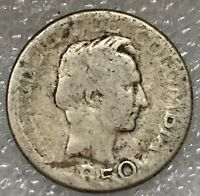1950 Colombia 🇨🇴 Silver 10 CENTAVOS Coin, Free combined S/H