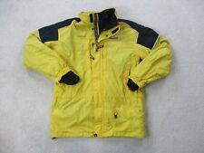 VINTAGE Spyder Jacket Adult Large Yellow Black Full Zip Fleece Lined Coat Mens *
