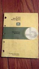"""Used John Deere 21"""" Walk Behind Rotary Mower 360001 Up Technical Manual Tm1369"""