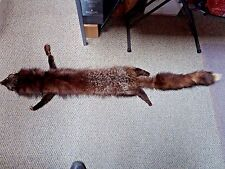 Vintage Silver Fox Fur Stole * 1940's Real Fur Wrap Scarf Boa * Whole Fox Pelt