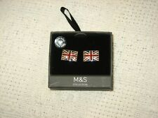 Union Jack Cufflinks Bn Boxed M&S Collection