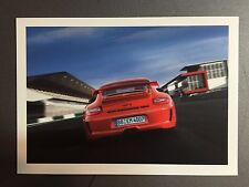 2011 Porsche 911 GT3 Factory issued Post Card Rear View RARE!! Awesome L@@K