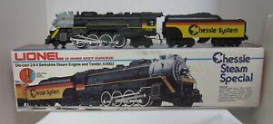 Lionel 6-8003: Die-Cast 2-8-4 Berkshire Engine & Tender - CHESSIE SYSTEM SPECIAL