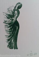 Apel Les FENOSA (1899-1988) Original Lithographie auf Arches Bütten Paris 1972 !