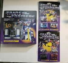 TRANSFORMERS *NEW* Soundwave Comm Buzzsaw & Custom Lot of 4 Decepticon Cassettes