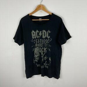 ACDC Mens T-Shirt Size Large Black Short Sleeve Round Neck 38.15