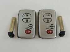 LOT OF 2 TOYOTA CAMRY 10-12 OEM REMOTE SMART KEY LESS ENTRY UNCUT INSERT BLADE