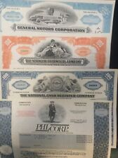 50 Different Stock Certificates