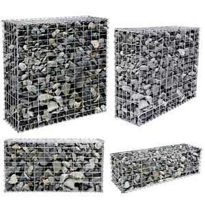SONGMICS Gabion Stone Basket Retaining Wall Garden wire cage fench privacy fench