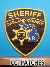 OAKLAND COUNTY, MICHIGAN SHERIFF RESERVE (POLICE) SHOULDER PATCH MI