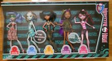 MONSTER HIGH SKULL SHORES 5 PACK EXCLUSIVE Set CLEO GHOULIA FRANKIE DRACULAURA
