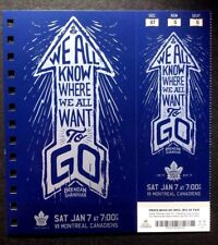 2016-17 Maple Leafs vs Montreal Canadiens Brendan Shanahan Featured Ticket
